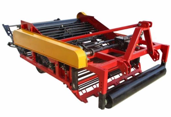 农业大型平地起垄两用花生收 拖拉机带粘土花生收割机